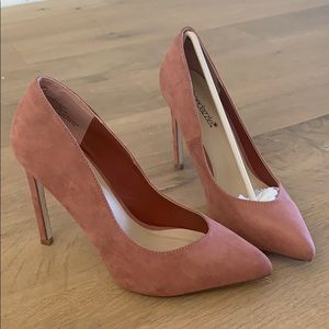 Shoes - NEW Rose Pink Suede Pumps Heels 7.5